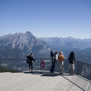 Sulphur Mountain Banff National Park - credit: Brewster Travel Canada