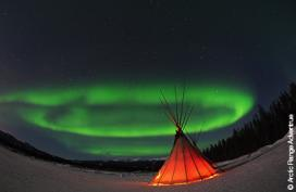 Northern Lights Teepees and Tents, Yukon and Northwest Territories