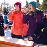 Maple taffy tasting